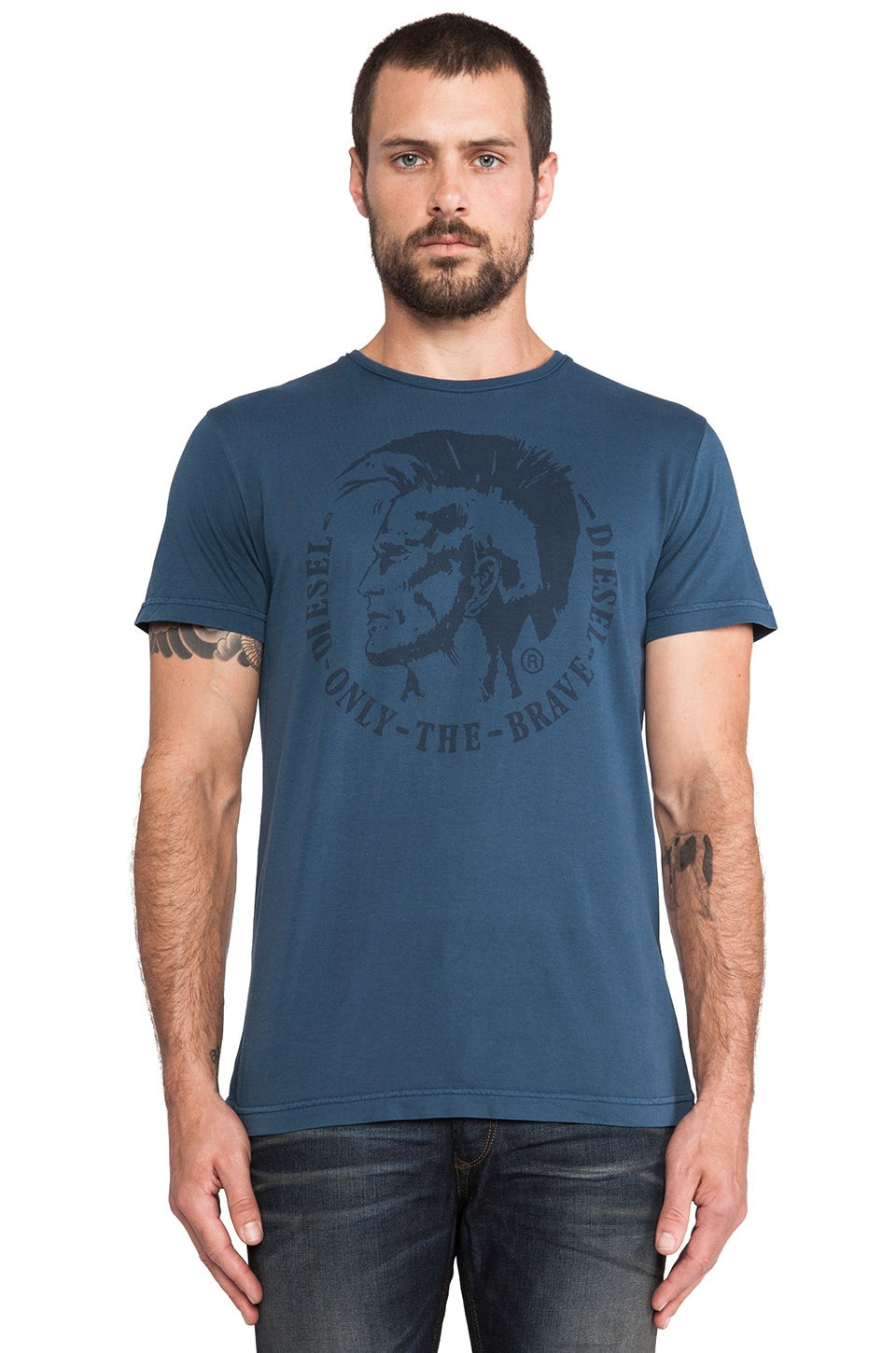 Diesel Achell Tee in Navy Seal