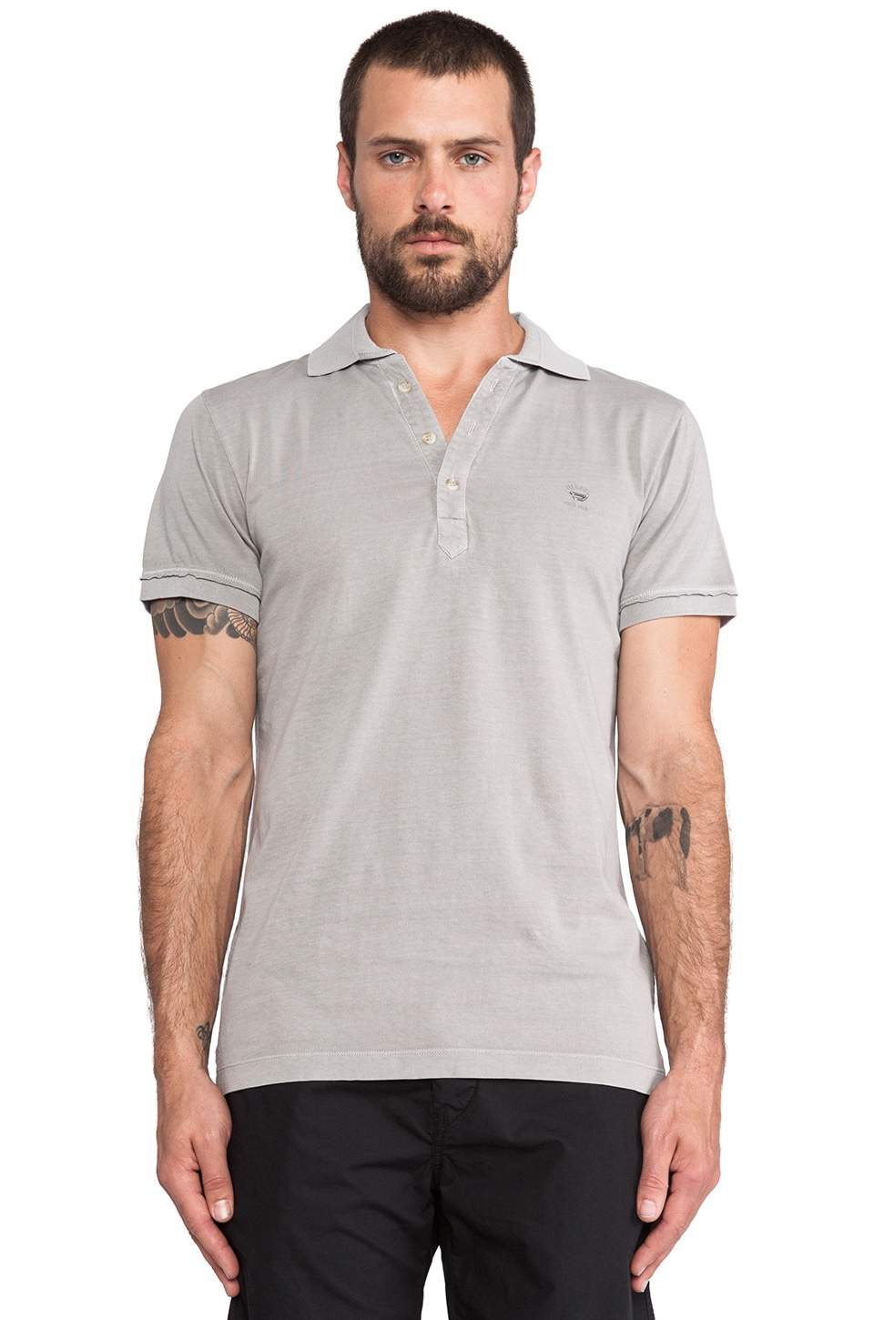 Diesel Etienne Polo in Light Grey