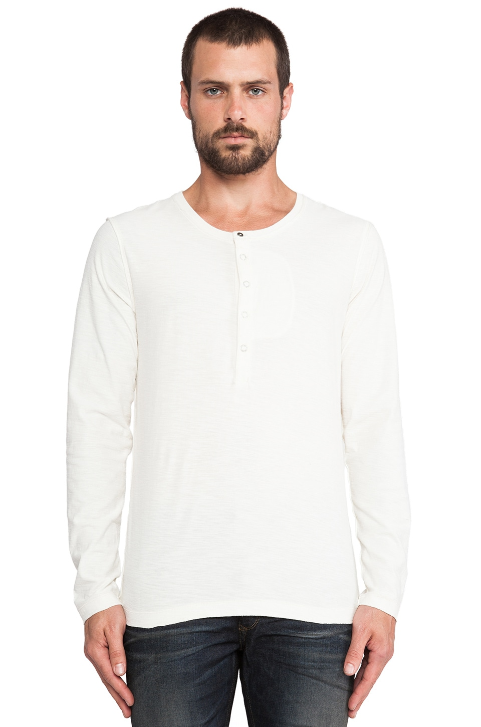 Diesel Canopy Henley in Off White