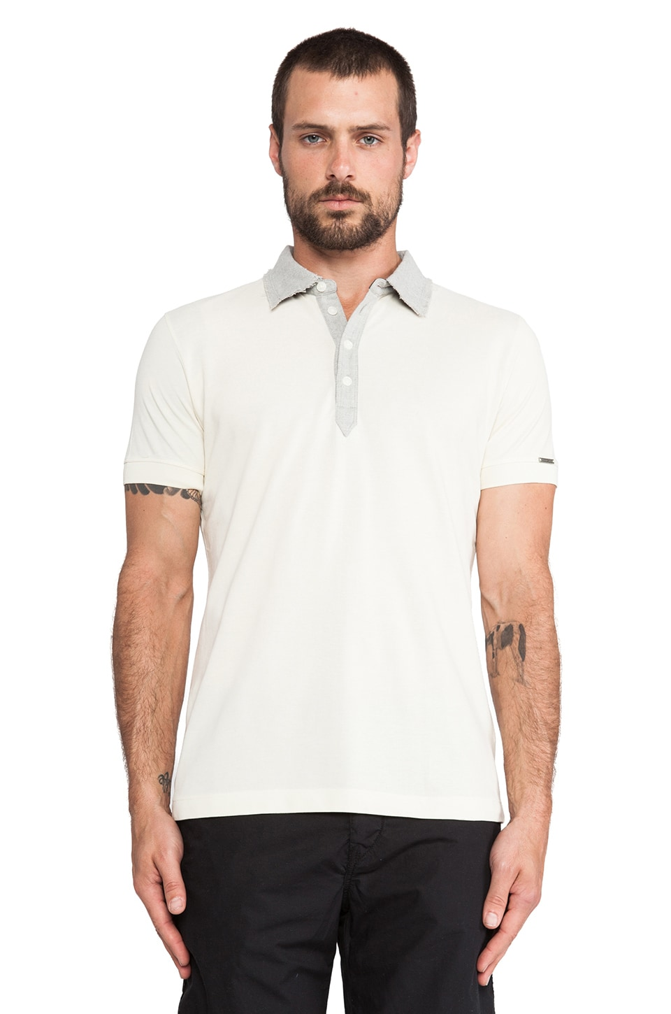 Diesel Amaranta Polo in Off White