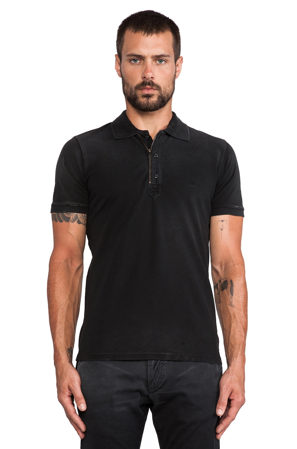 Diesel Kalanit Polo in Black