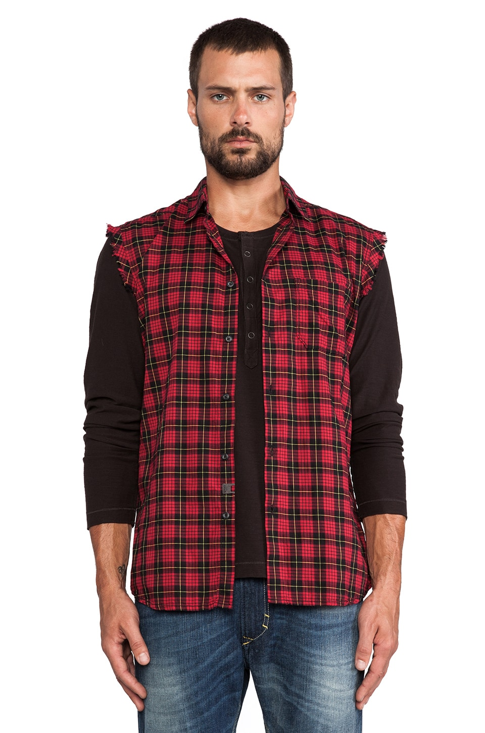 Diesel Neha Button Down in New Red