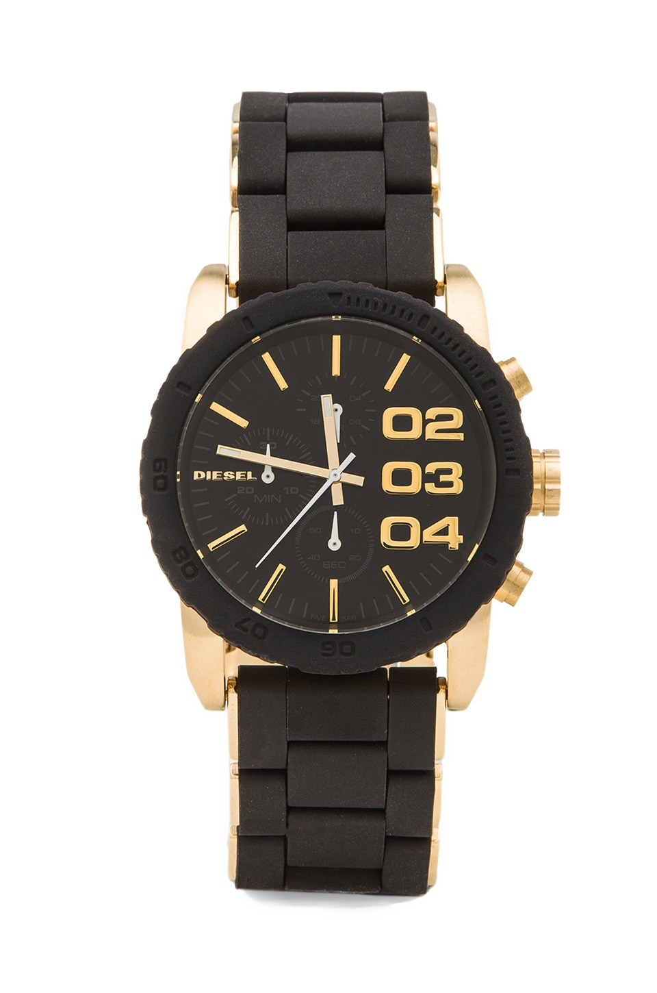 Diesel Franchise 42mm in Black/Gold
