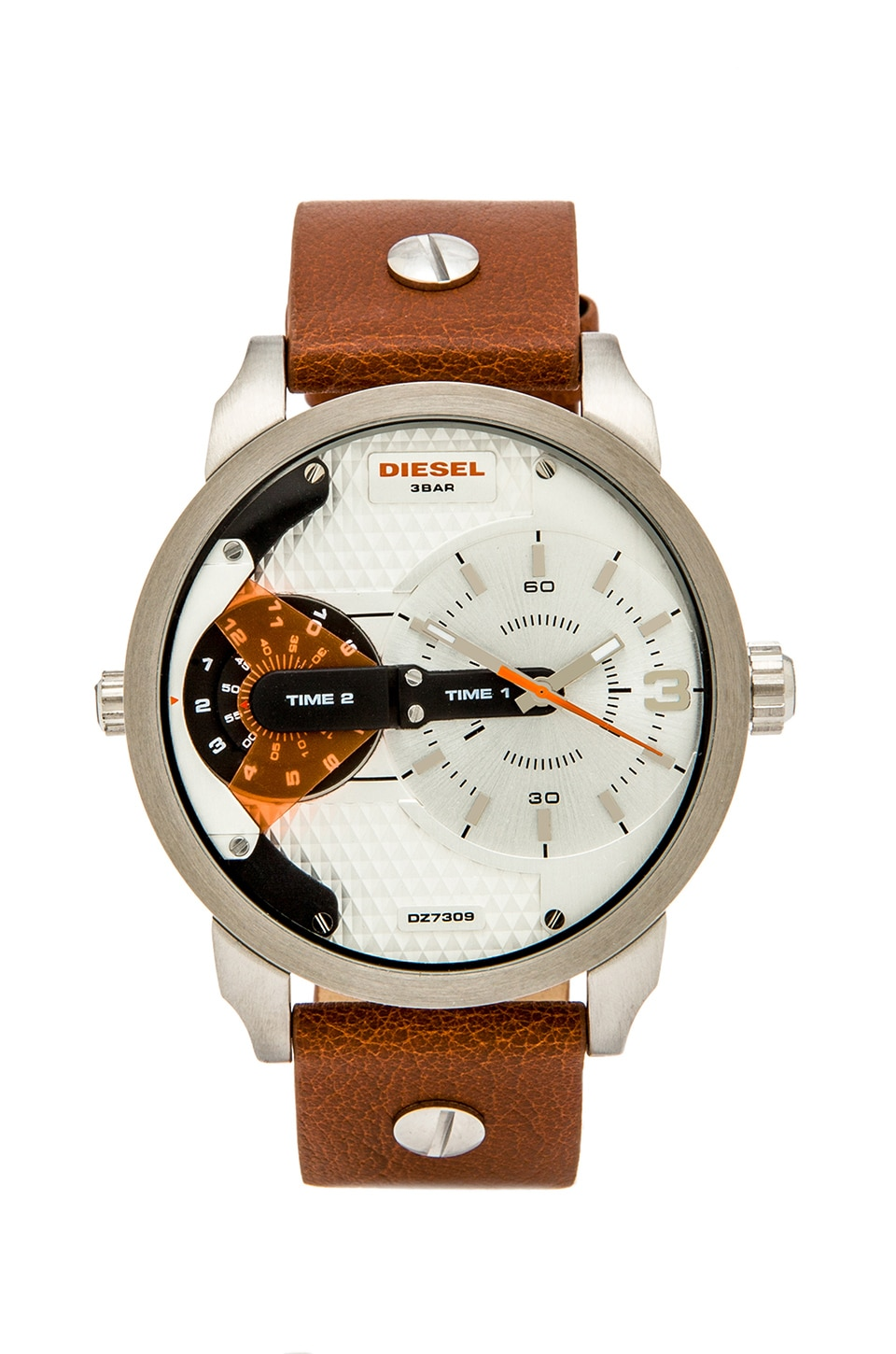 Diesel DZ7309 in Brown & Silver