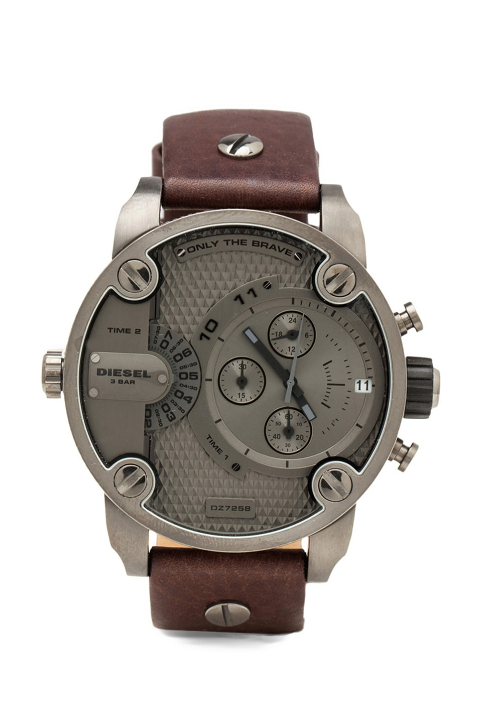 Diesel Little Daddy DZ7258 51mm in Gunmetal IP