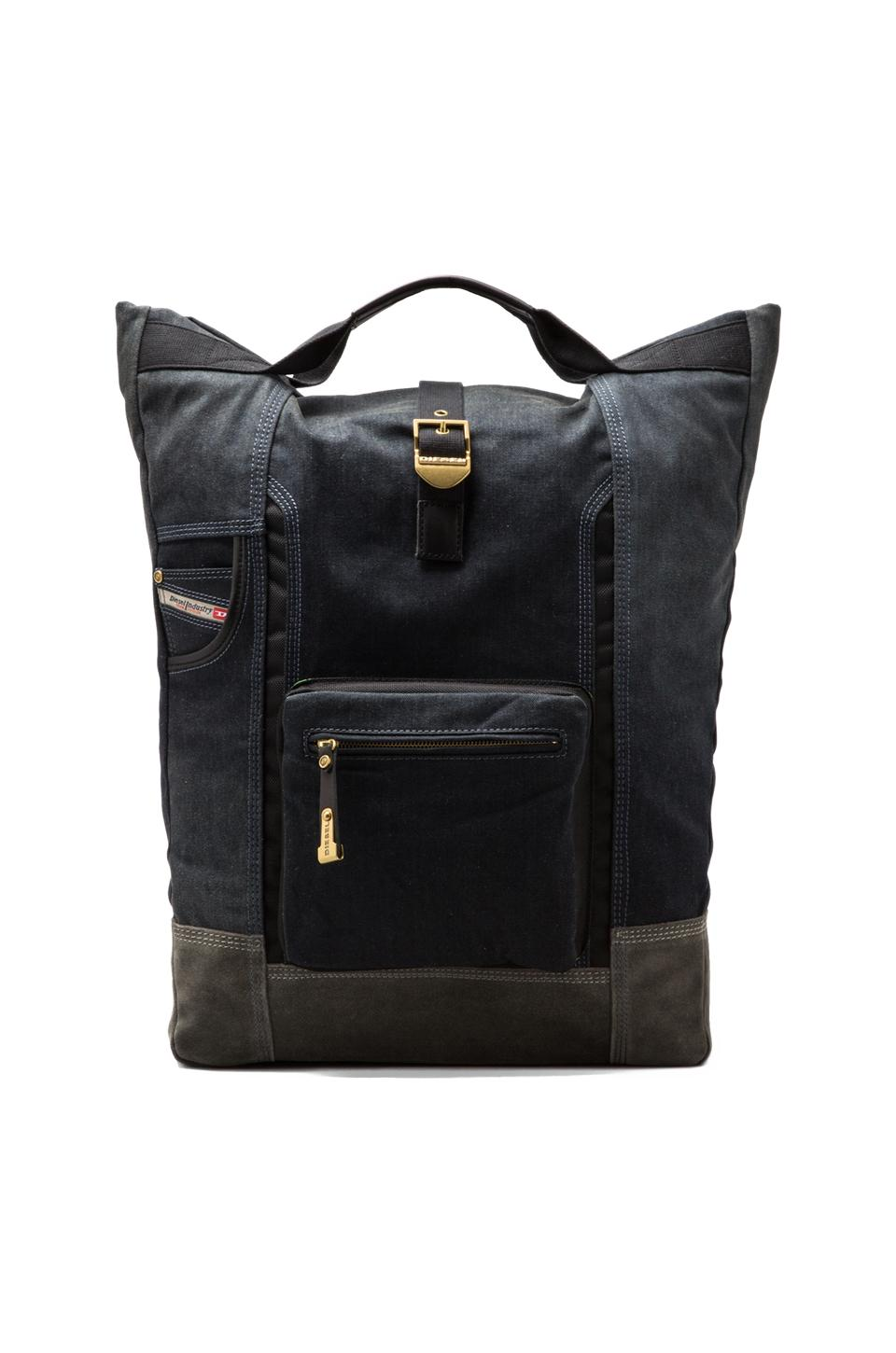Diesel Home of the Brave Railpack in Blue Denim/Grey