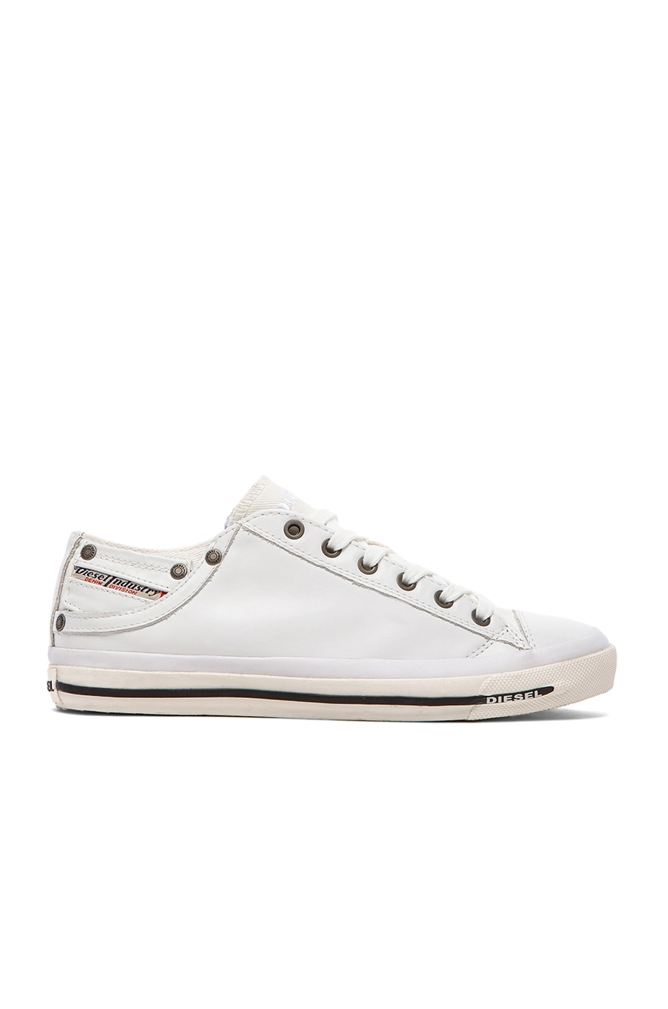 Diesel Magnete Exposure Low I Leather in White
