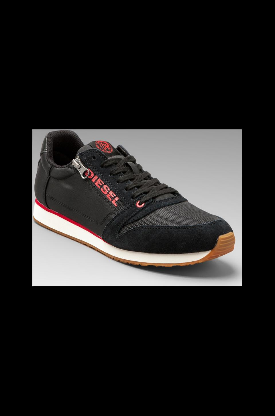 Diesel Great Era Slocker Sneaker in Black/Formula One
