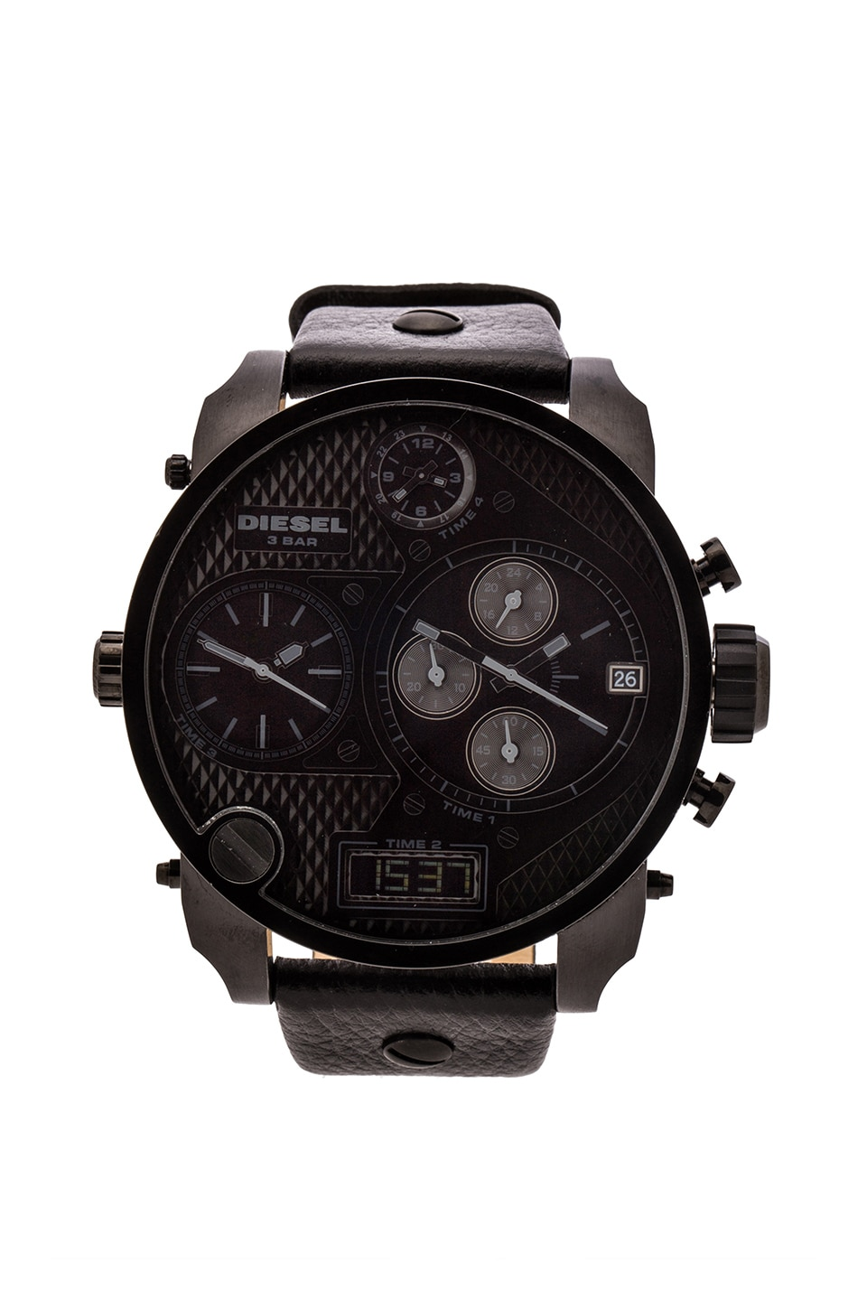 Diesel Mr Daddy DZ7193 57mm in Black IP