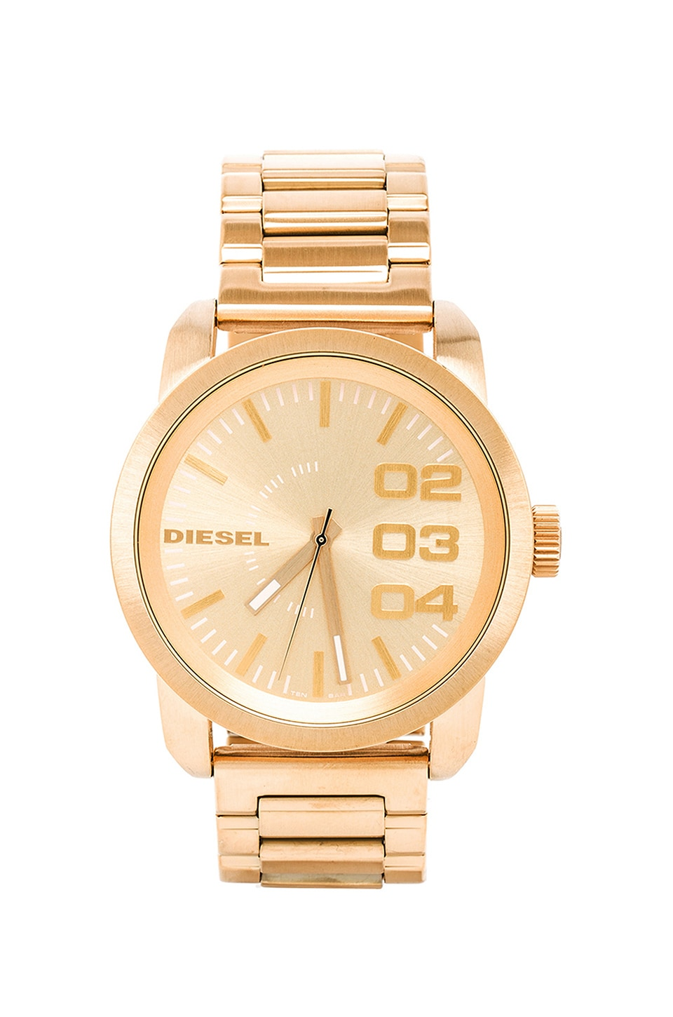 Diesel Double Down DZ1466 en Gold Tone IP