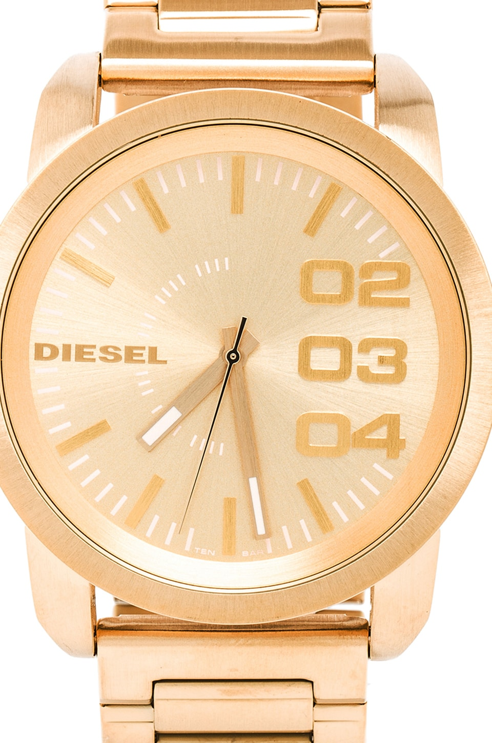 Diesel Double Down DZ1466 in Gold Tone IP