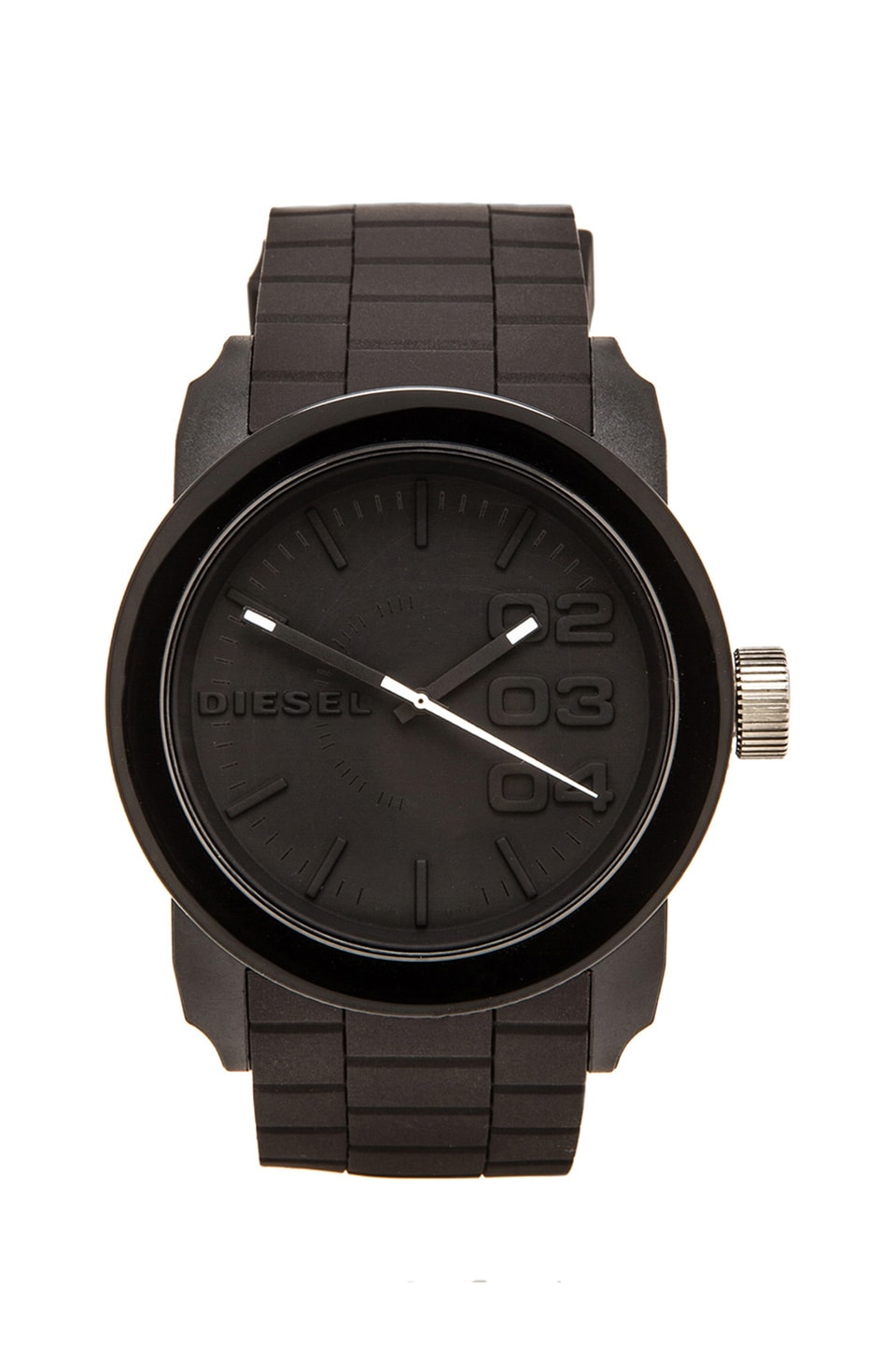 Diesel Double Down Silicone DZ1437 44mm Watch en Noir