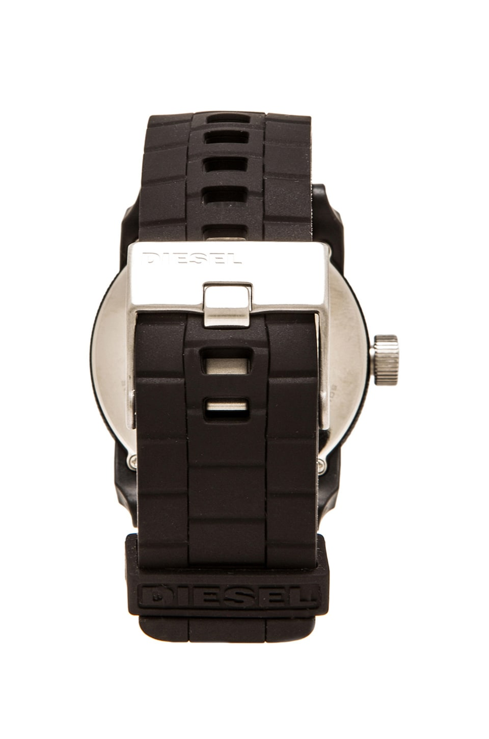 Diesel Double Down Silicone DZ1437 44mm Watch in Black
