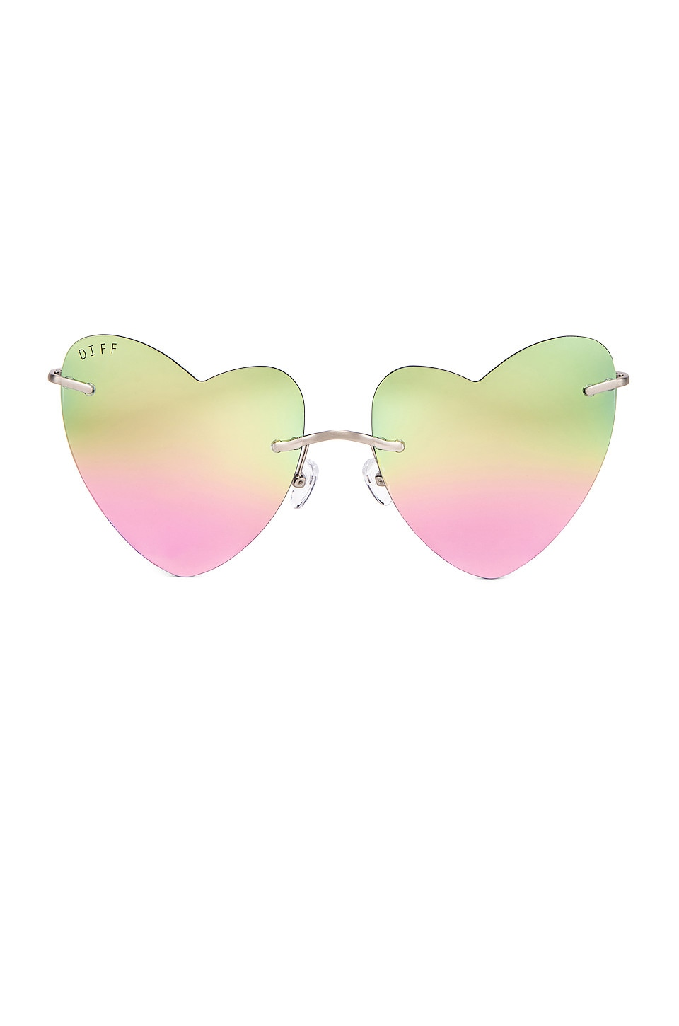 DIFF EYEWEAR Remy in Brushed Silver & Pastel Rainbow