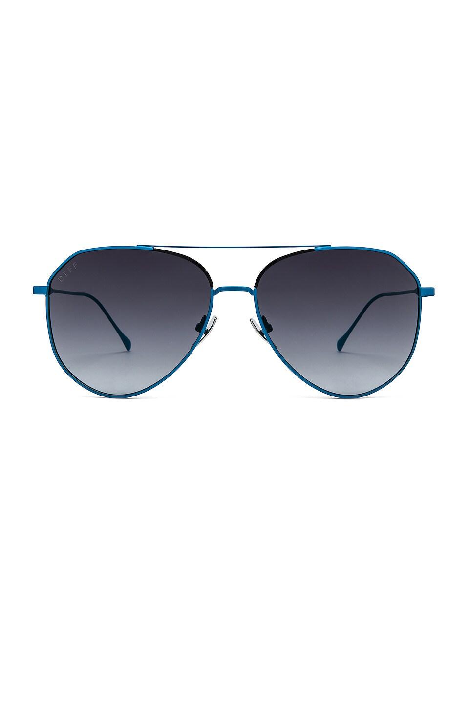 DIFF EYEWEAR Dash in Neon Blue & Grey Gradient