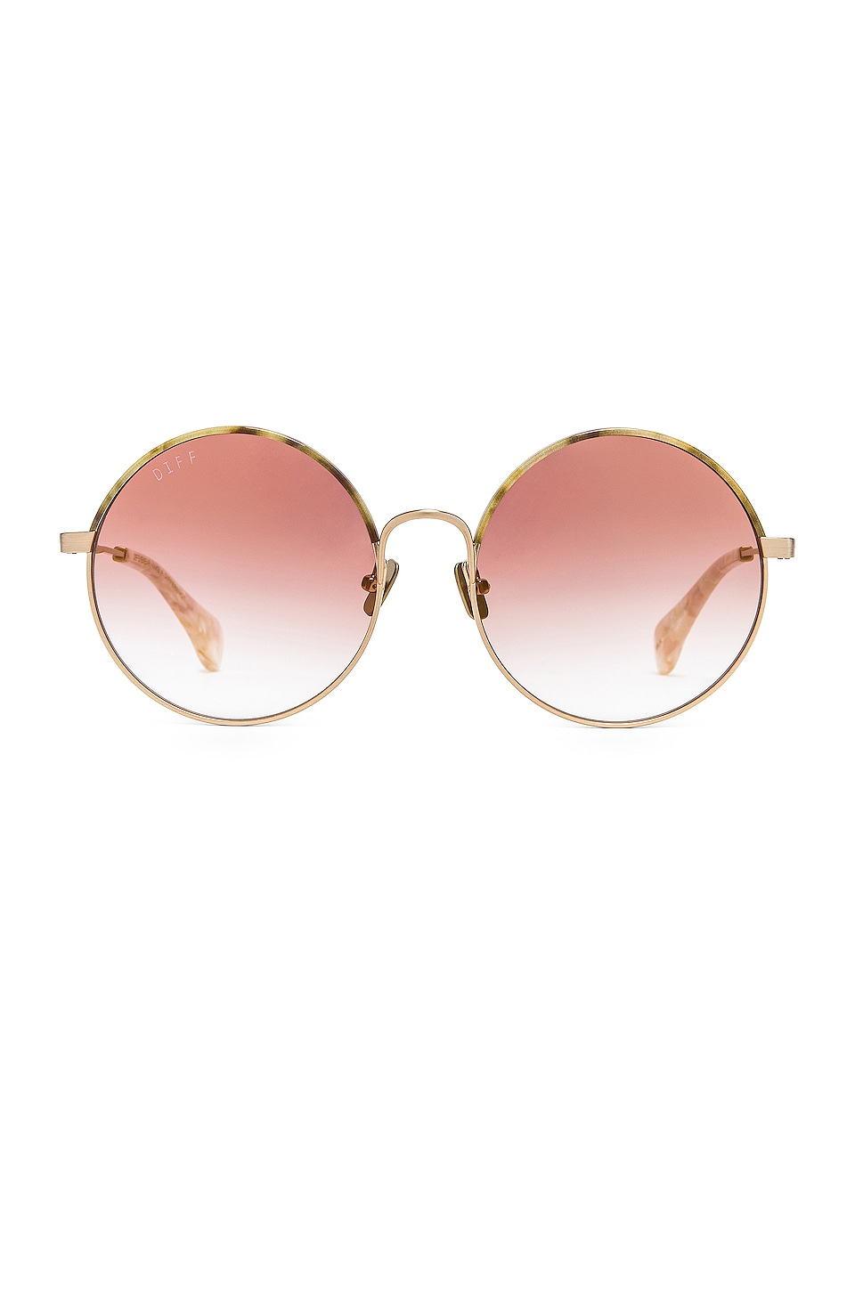 DIFF EYEWEAR Isla in Brushed Gold & Canyon Gradient Flash