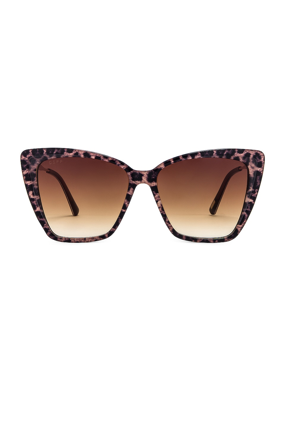 DIFF EYEWEAR Becky II in Leopard & Brown Gradient