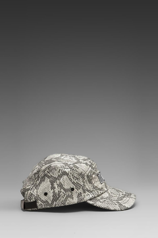 Dimepiece 5-Panel Cap in Grey Snake