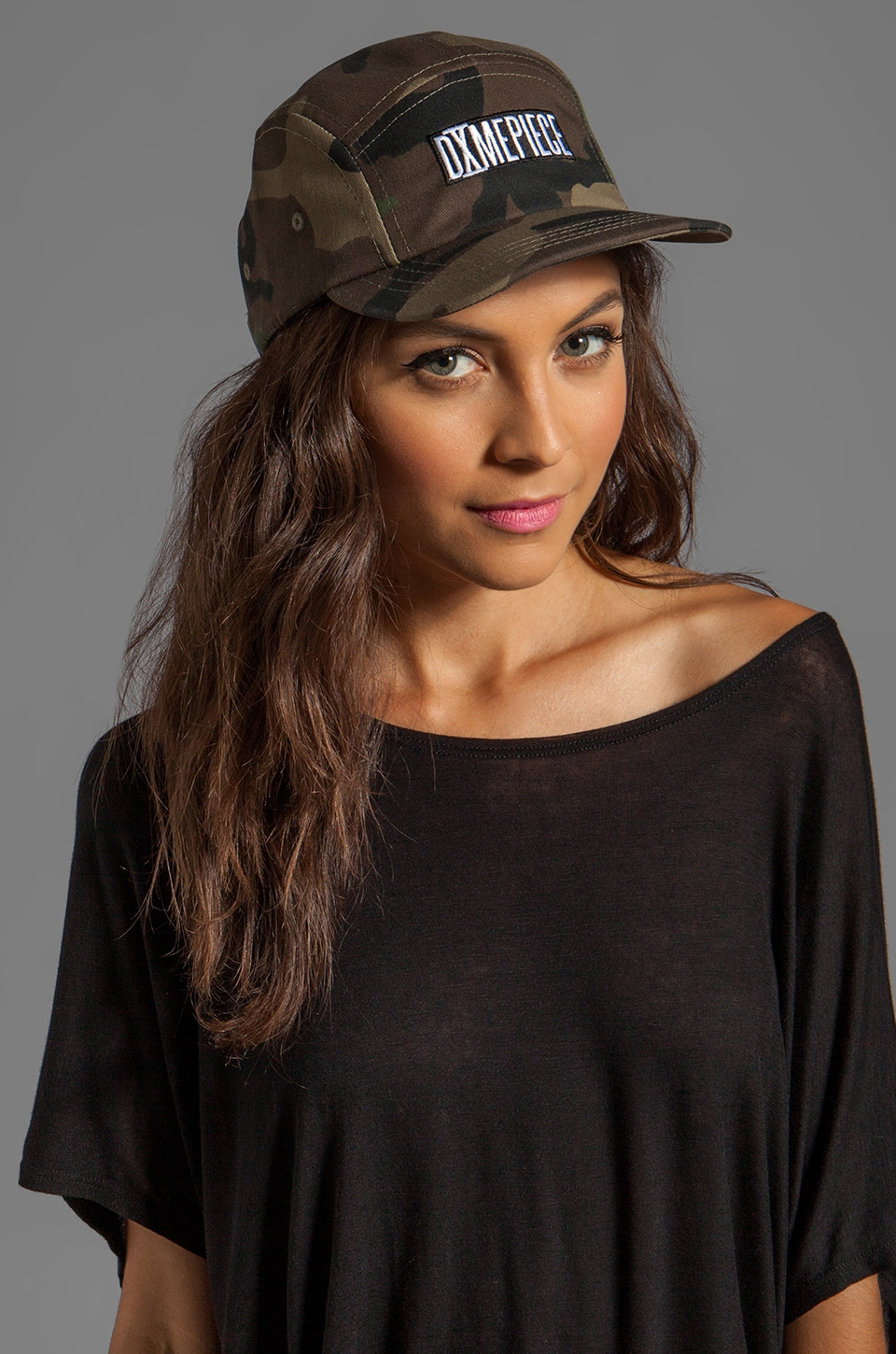 Dimepiece 5 Panel Cap in Camo