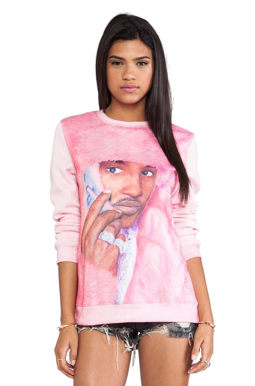 Dimepiece Real Men Wear Pink Sweatshirt in Multi