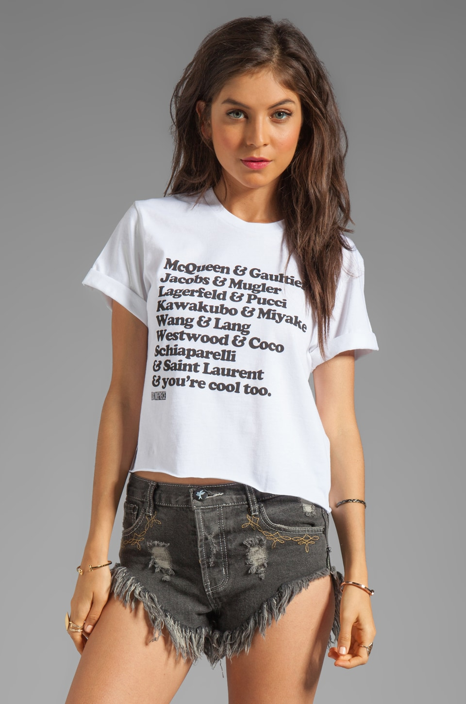 Dimepiece Youre Cool Too Tee in White