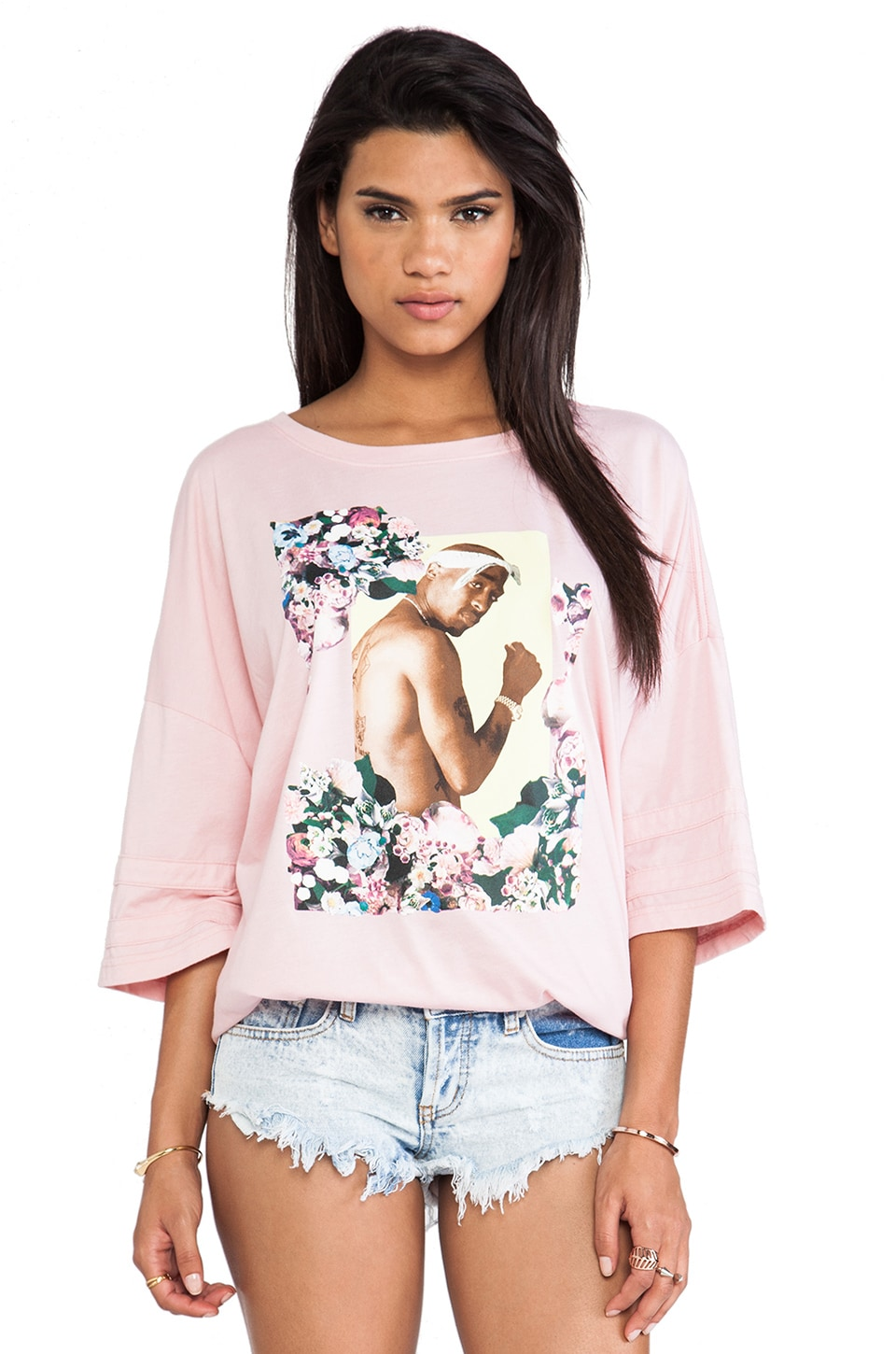 Dimepiece Gangster Chic Oversized Tee in Multi
