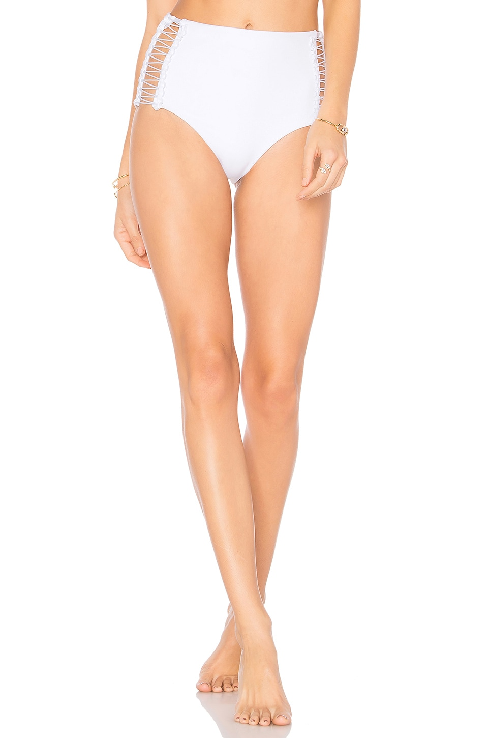 Laced Coil High Waisted Bottom by Dion Lee Swimwear