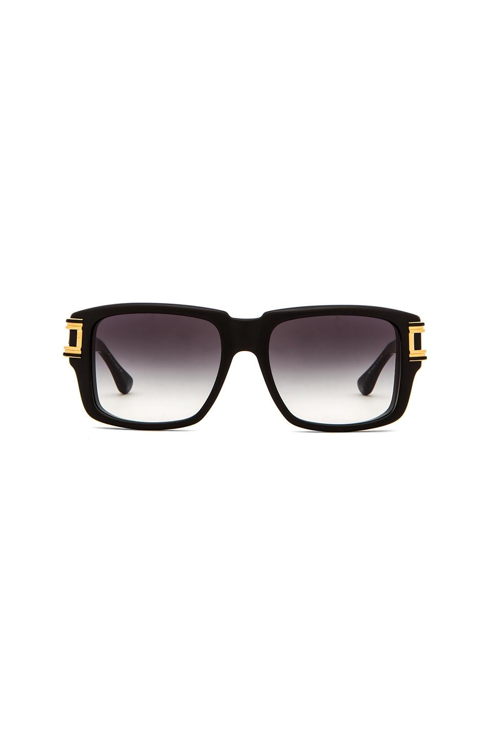 Dita Grandmaster Two in Matte Black & 18k Gold