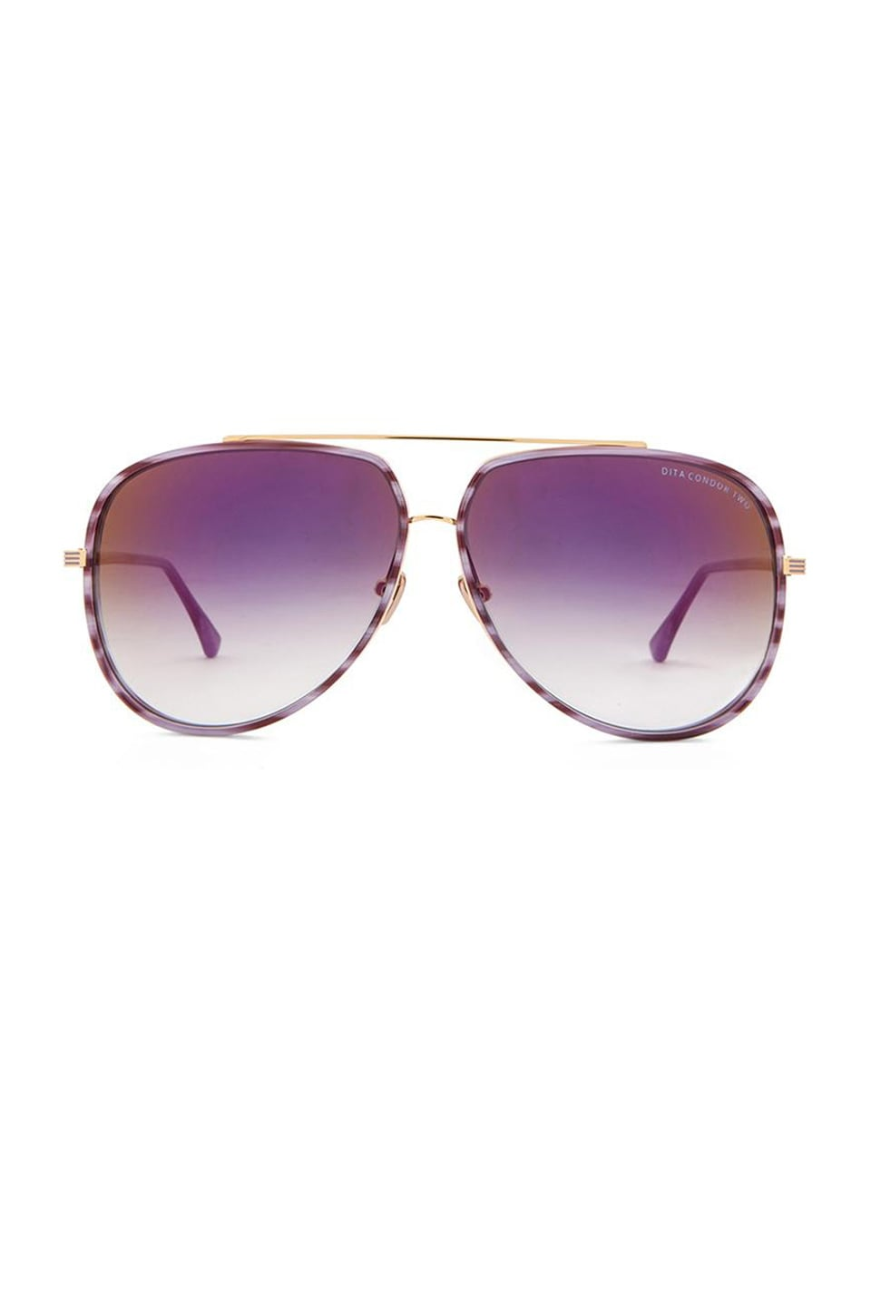 Dita Condor Two Sunglasses in Purple Swirl & 18K Gold