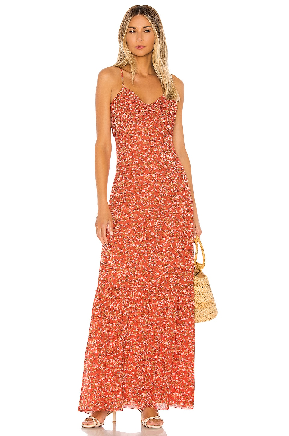 Divine Heritage Sweet Virginia Ditsy Maxi in Strawberry