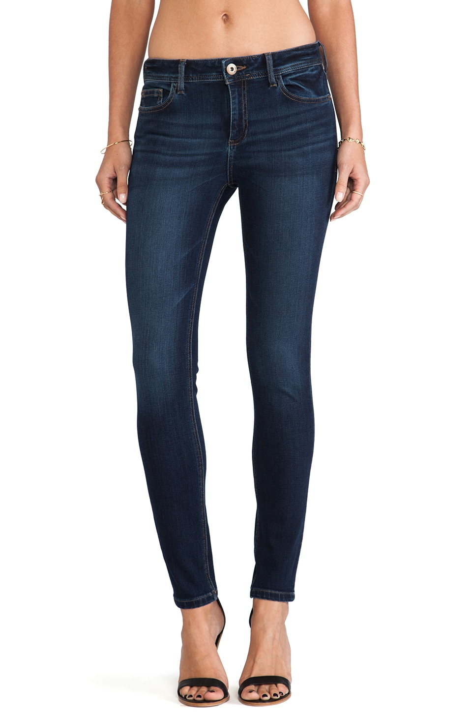 DL1961 Florence Mid Rise Skinny in Warner
