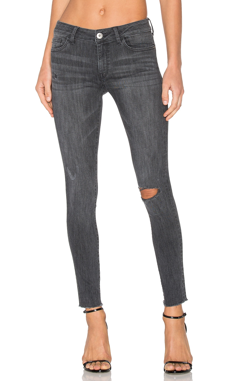 DL1961 x Jessica Alba No. 3 Instasculpt Skinny in Weathered
