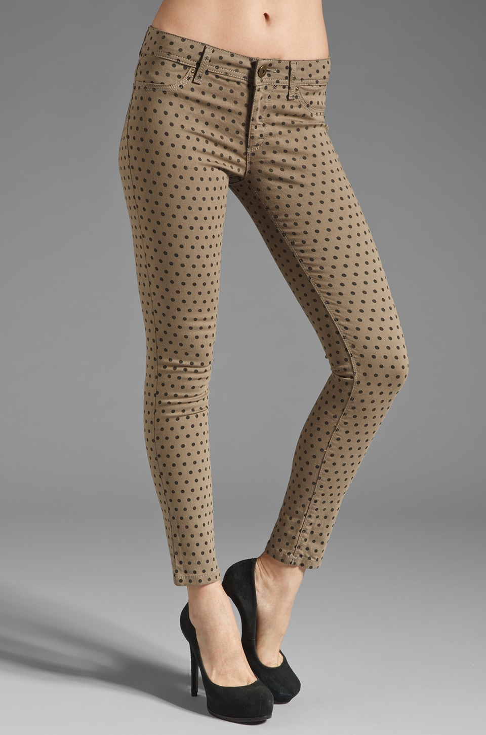 DL1961 Emma Polka Dot Skinny in Cork