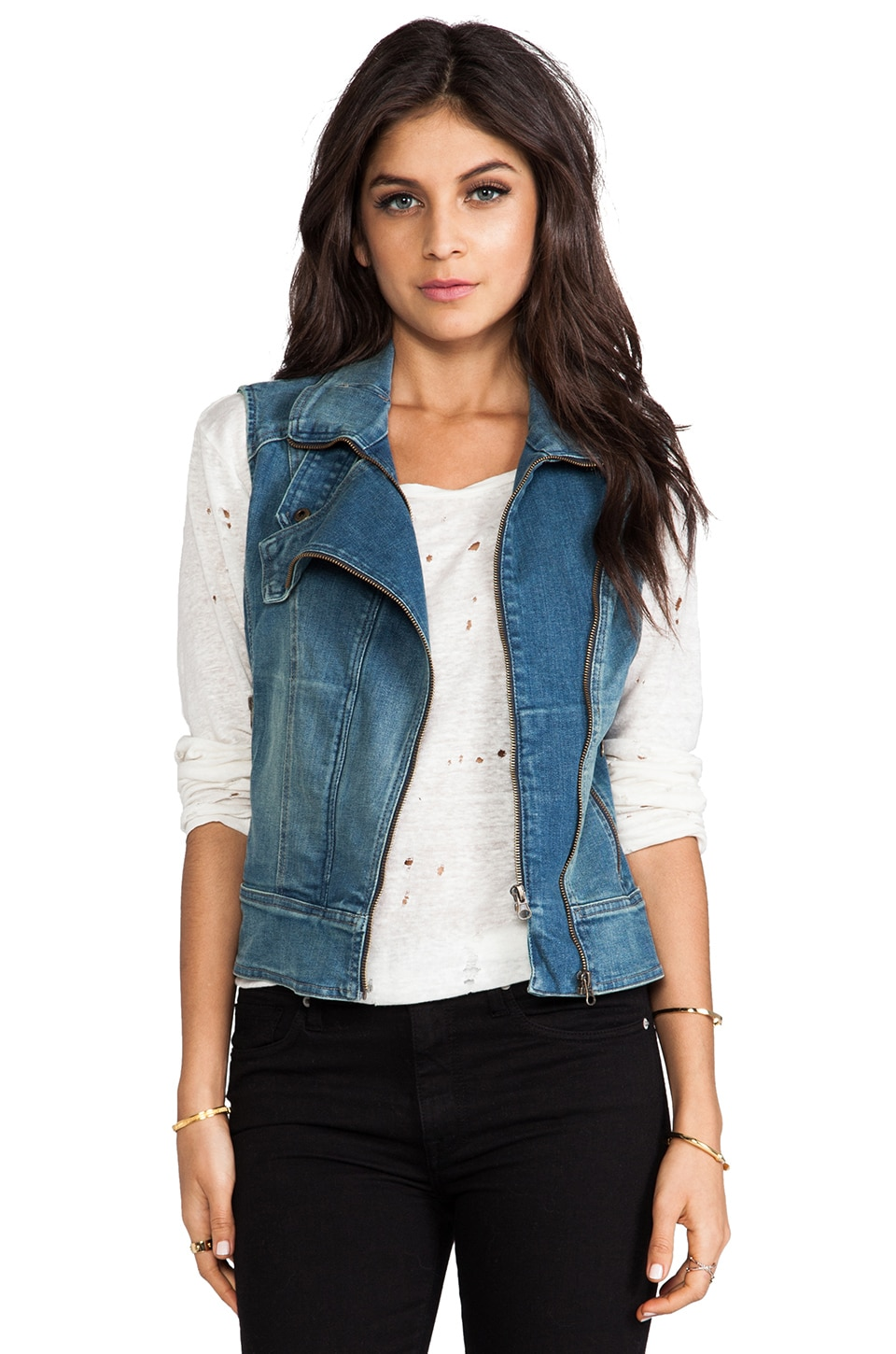 DL1961 Denim Vest in Mayhem