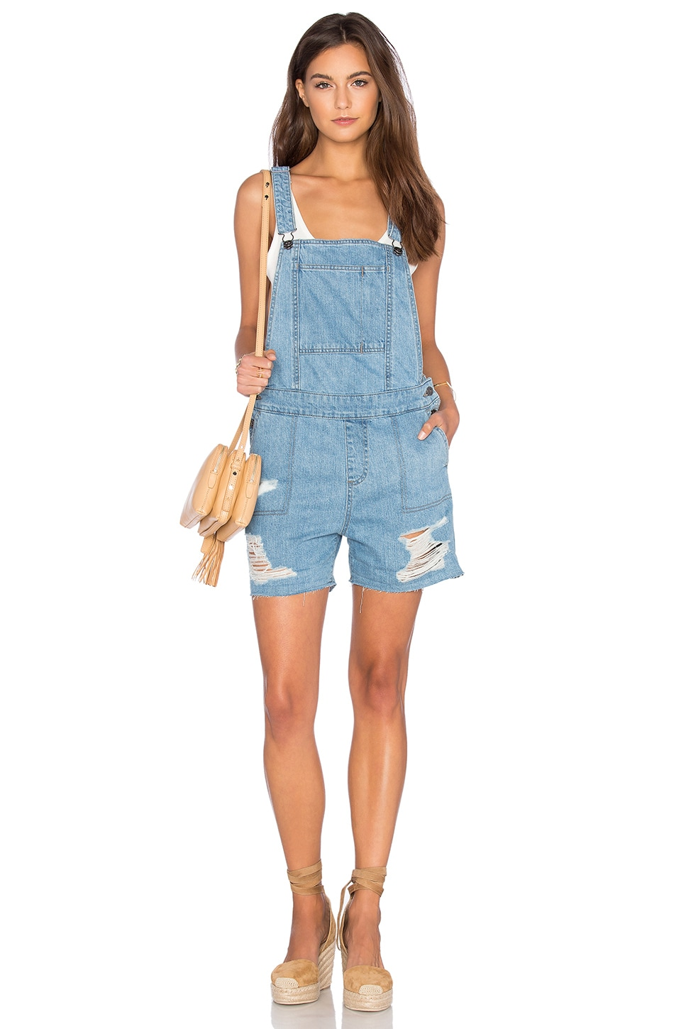 DL1961 Cara Short Overall in Campfire