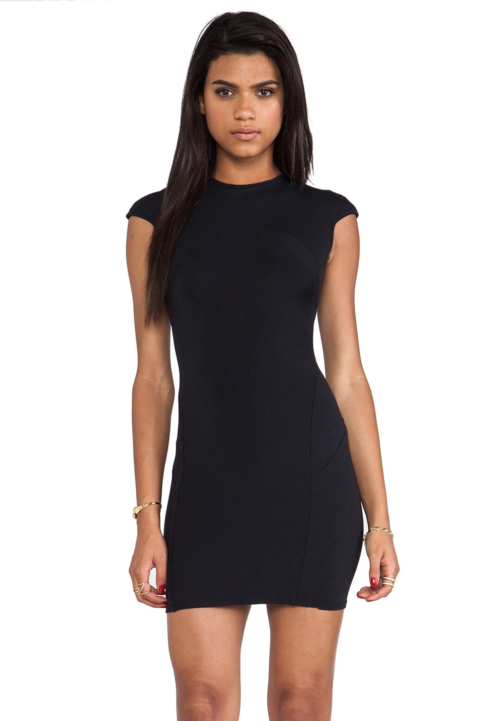 David Lerner Key Mini Dress in Black