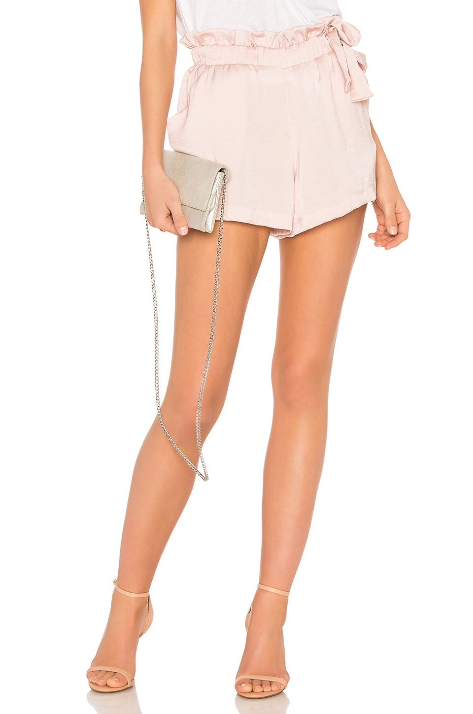 David Lerner Waist Tie Shorts en Blush