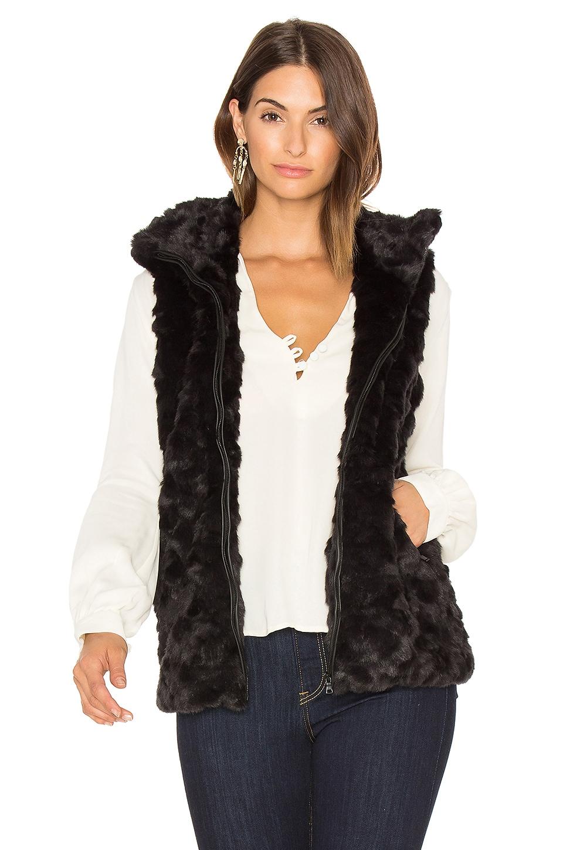 Caroline Faux Fur Vest by David Lerner