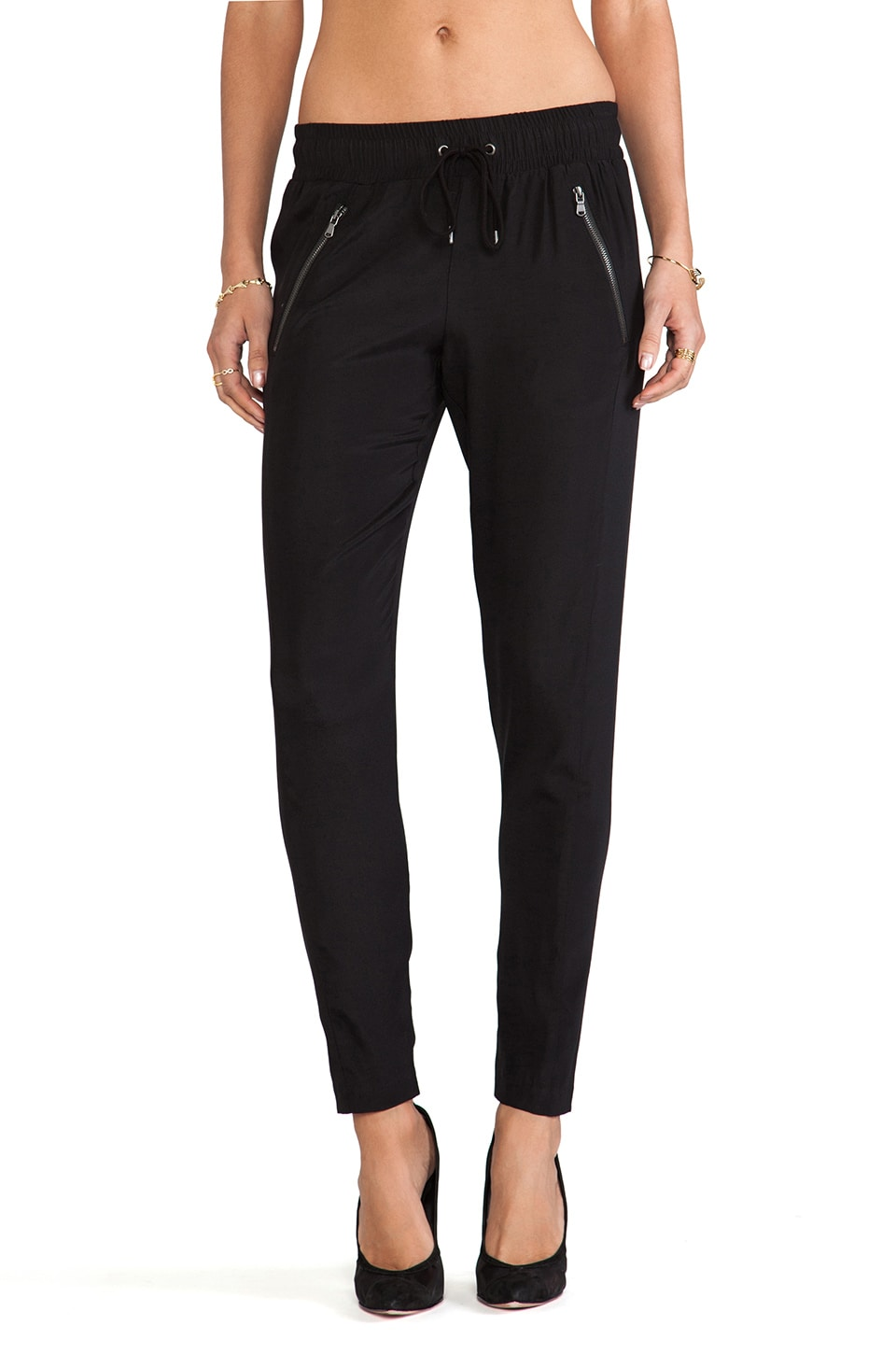 David Lerner Silk Randall Pants in Black