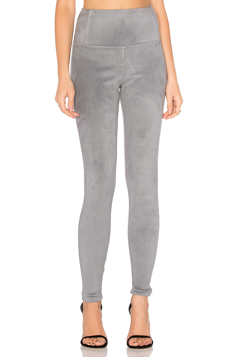 David Lerner Elliott Micro Suede Legging in Grey