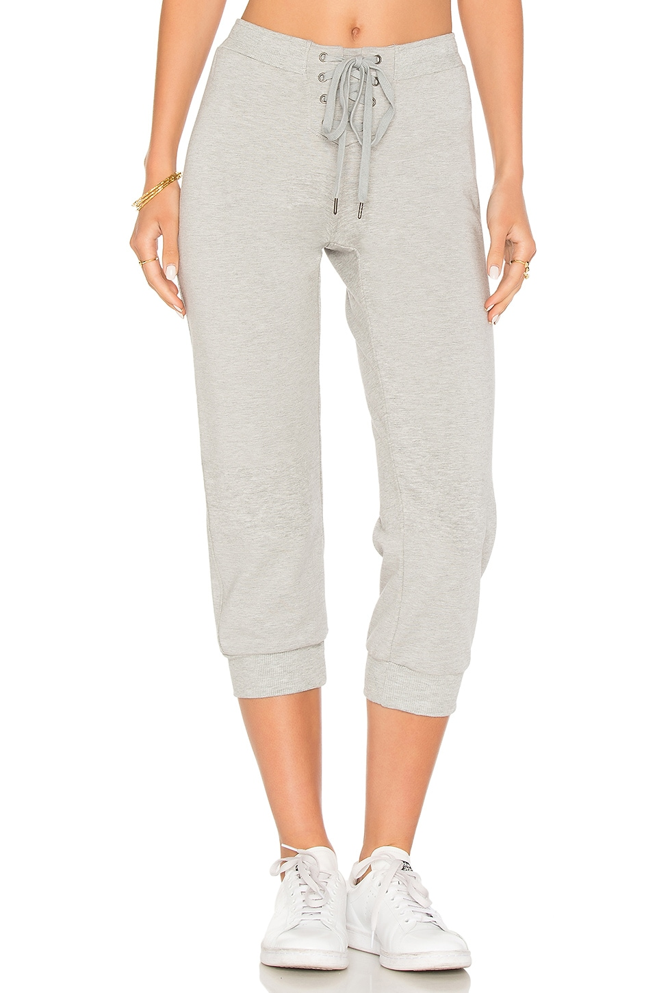 David Lerner Cropped Trackpant in Charcoal Grey