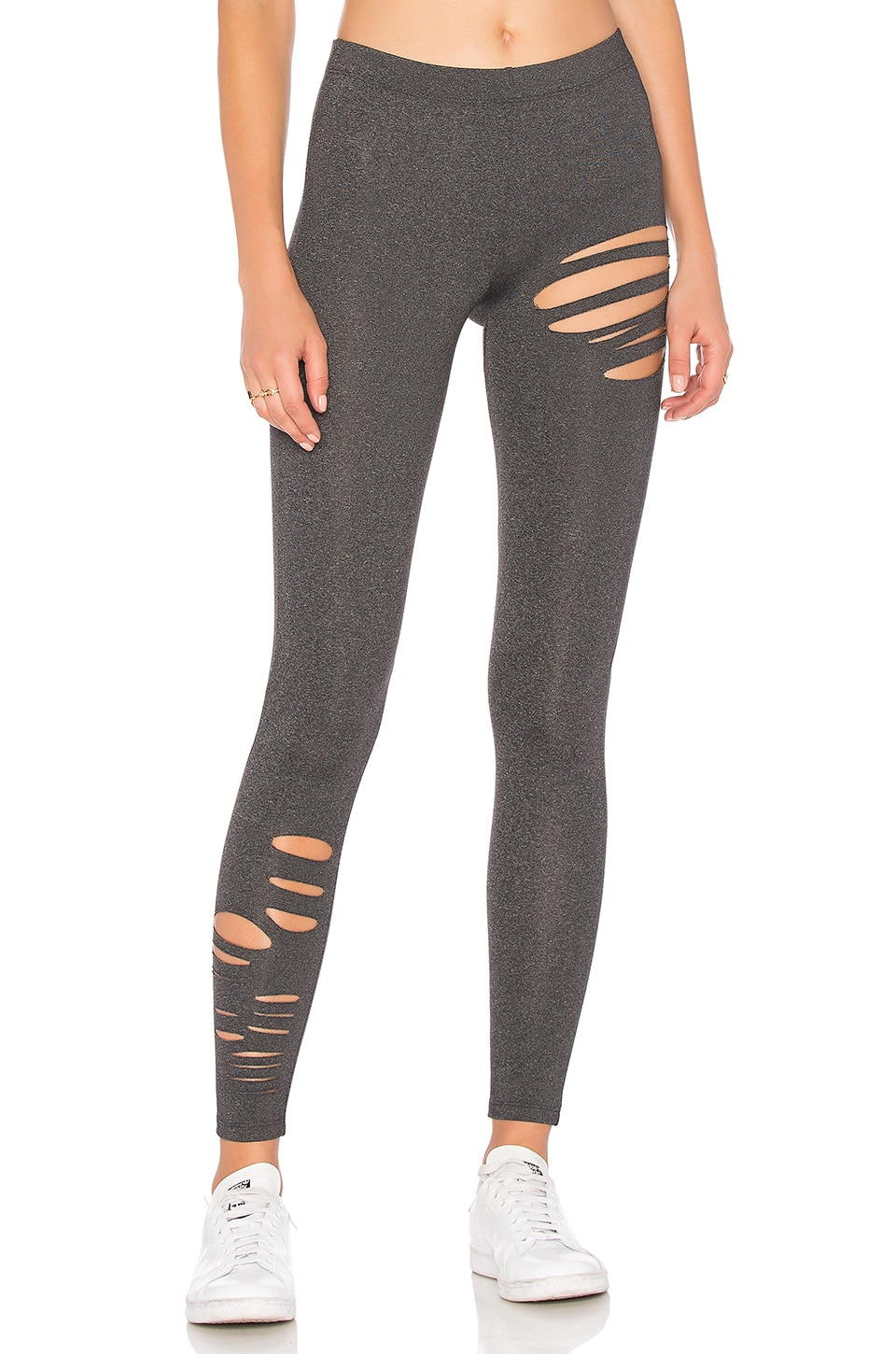 David Lerner Ripped Legging in Charcoal Heather