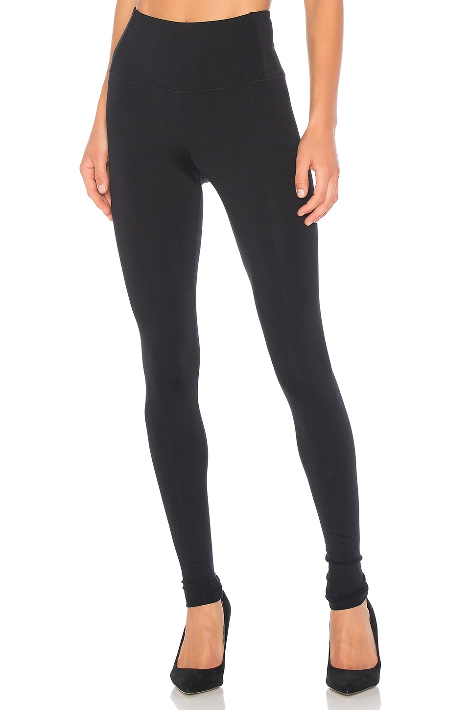 David Lerner Elliott High Waisted Legging in Classic Black