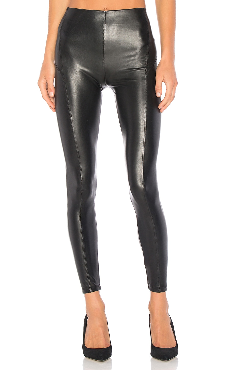 David Lerner Seamed High Rise Legging in Classic Black
