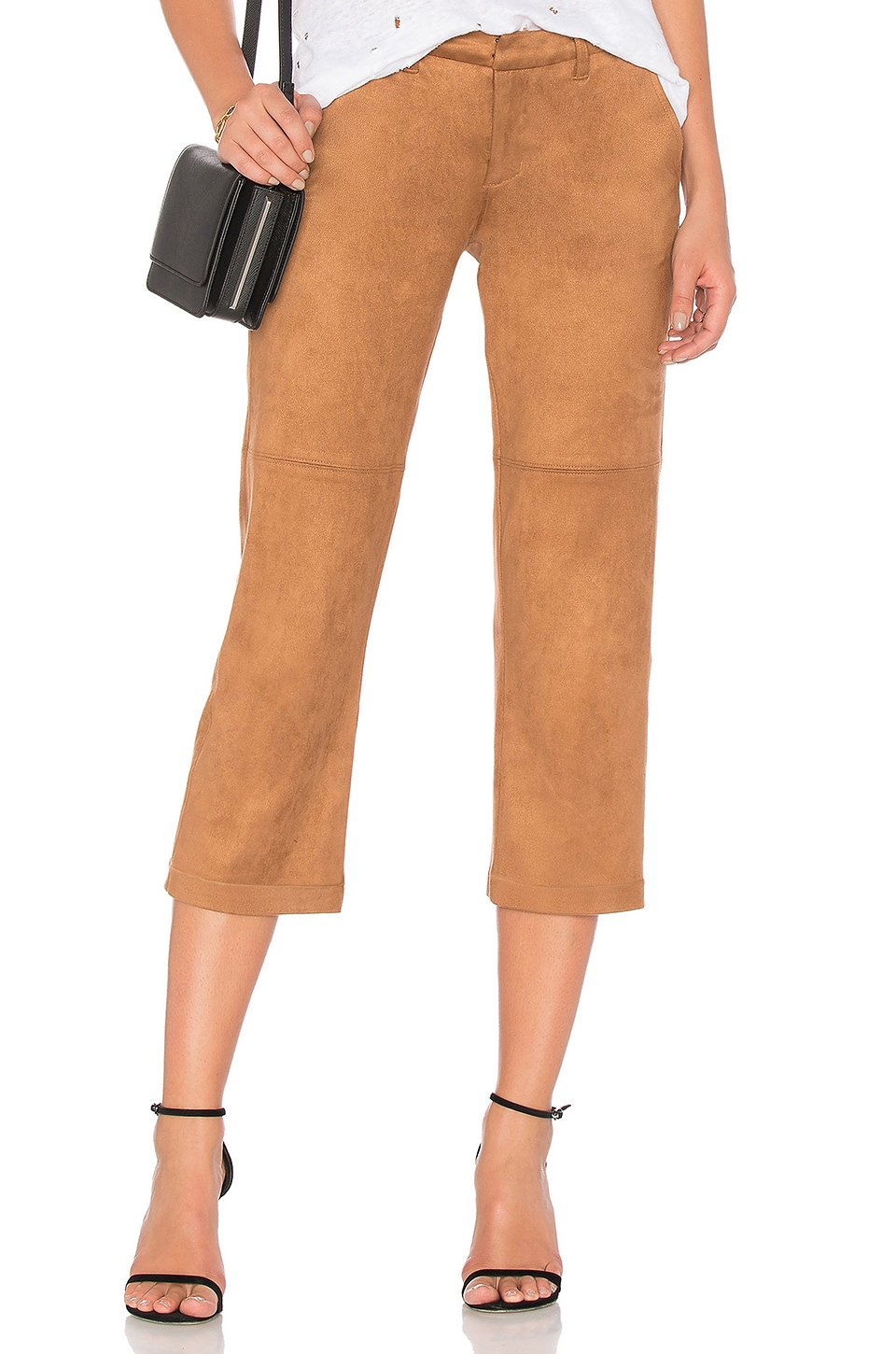 Suede Cropped Pant