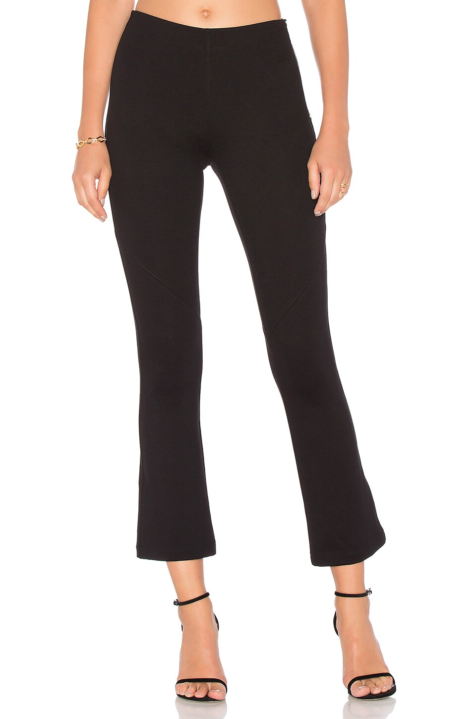 David Lerner Whitman Ponte Pant in Classic Black
