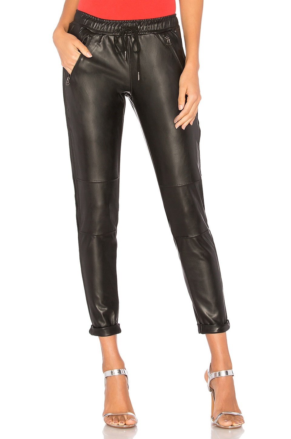 David Lerner Track Pant in Classic Black