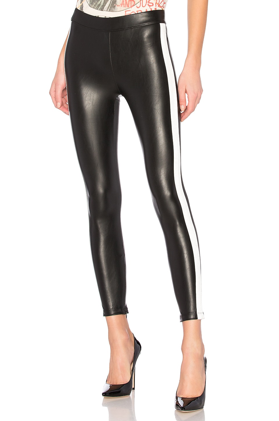 David Lerner Tuxedo Legging in Classic Black