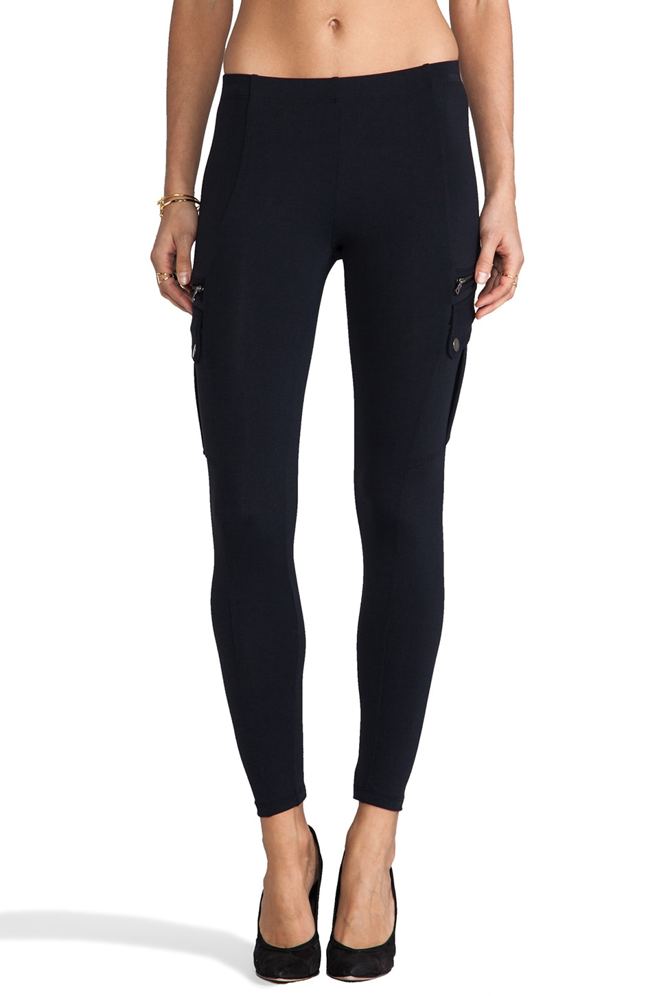 David Lerner Cargo Legging in Black