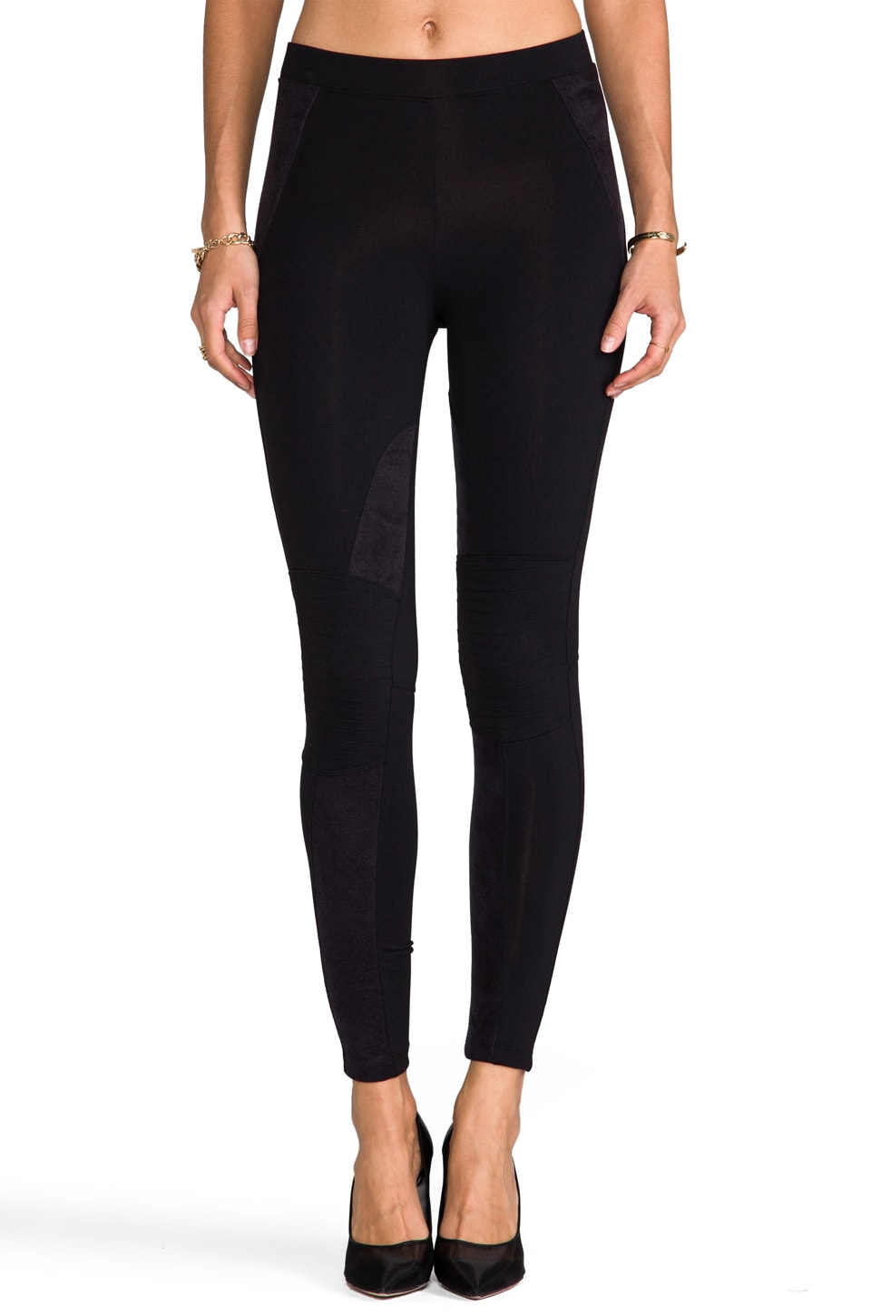 David Lerner Motorcycle Legging in Black